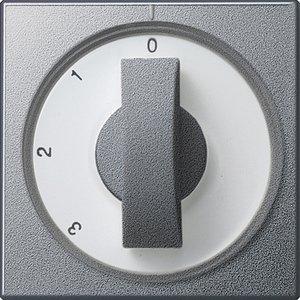 Фото Gira System55 066926 Крышка для поворотного выключателя (алюминий)