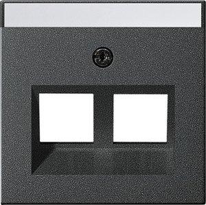 Фото Gira System55 264028 Крышка розетки компьютерной (RJ45, надпись, антрацит)