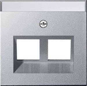 Фото Gira System55 264026 Крышка розетки компьютерной (RJ45, надпись, алюминий)