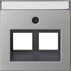 Фото Gira System55 2640600 Крышка розетки компьютерной (RJ45, надпись, сталь)