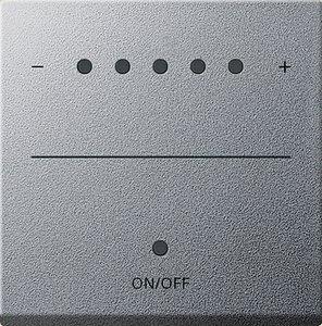 Фото Gira System2000 226026 Крышка для сенсорного диммера (подсветка, алюминий)