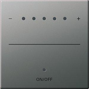 Фото Gira System2000 2260600 Крышка для сенсорного диммера (подсветка, сталь)