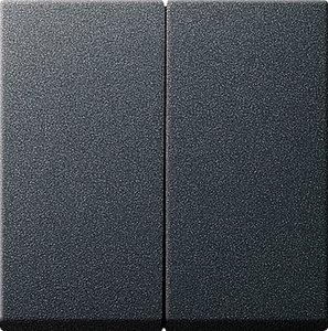 Фото Gira System55 231528 Крышка для двухканального диммера (антрацит)