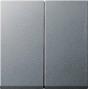 Фото Gira System55 231526 Крышка для двухканального диммера (алюминий)