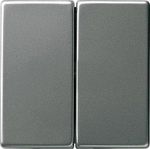 Фото Gira System55 2315600 Крышка для двухканального диммера (сталь)