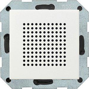 Фото Gira System55 228203 Динамик радиоприемника (RDS, под рамку, скрытая установка, белый глянцевый)