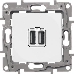 Фото Legrand Etika 672294 Розетка USB (2xUSB, под рамку, скрытая установка, белая)