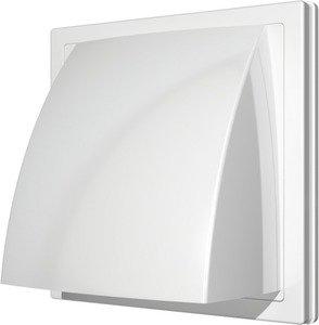 Фото Era 1515К10ФВ Стенной выход с обратным клапаном 150x150 с фланцем Ø100 (белый)