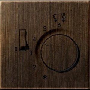 Фото Jung MEFTR231PLAT Крышка для терморегулятора (античная латунь)