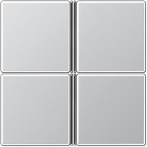 Фото Jung A404TSAAL Комплект клавиш 4 группы для кнопочного модуля (алюминий)