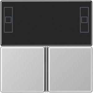 Фото Jung A4093TSAAL Набор накладок для комнатного контроллера (алюминий)