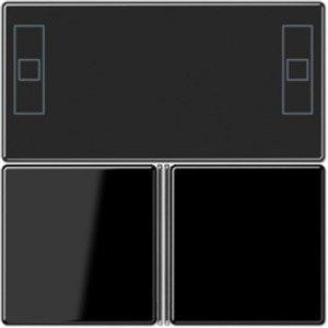 Фото Jung A4093TSASW Набор накладок для комнатного контроллера (черный)