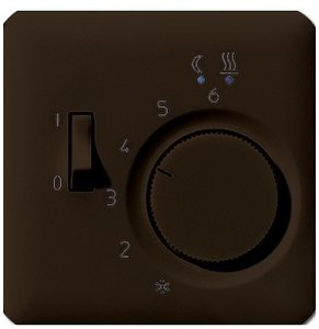 Фото Jung CD500 CDFTR231PLBR Крышка для терморегулятора (коричневая)