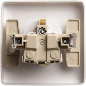 Фото Schneider Electric Хит RS16-136-B Розетка одинарная с заземляющим контактом (16 А, IP20, в сборе, скрытая установка, шторки, белая)