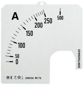 Фото ABB 2CSG122229R5011 Шкала для амперметра SCL-A5-200/72
