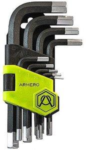Фото Armero A410/096 Ключи длинные шестигранные 1.5-10 мм (Cr-V, 9 шт)