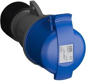 Фото ABB 2CMA102031R1000 Easy&Safe Розетка кабельная 232EC6,32А,2P+E,IP44,6ч