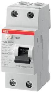Фото ABB FH200 2CSF202003R3250 Выключатель дифференциального тока двухполюсный 25А 300мА (тип AC)