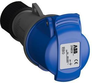 Фото ABB 2CMA102003R1000 Розетка кабельная Easy&Safe 216EC6,16А,2P+E,IP44,6ч