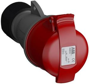 Фото ABB 2CMA102040R1000 Розетка кабельная Easy&Safe 332EC6,32А,3P+E,IP44,6ч