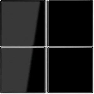 Фото Jung LS LS404TSASW Комплект клавиш 4 группы для кнопочного модуля (черная)