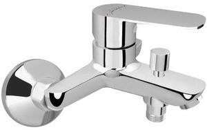 """Фото Jacob Delafon Oscar E29844-CP Смеситель для ванны/душа (1/2"""", однозахватный, картридж, кнопочный дивертор)"""