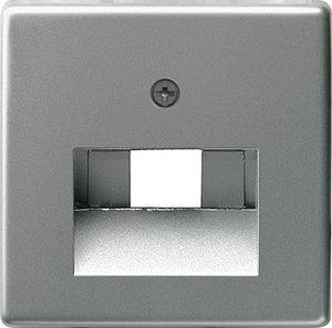 Фото Gira E22 027020 Крышка розетки компьютерной (RJ45/RJ11, нержавеющая сталь)