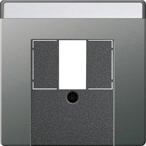 Фото Gira E22 027620 Крышка розетки USB (USB/TAE, нержавеющая сталь)