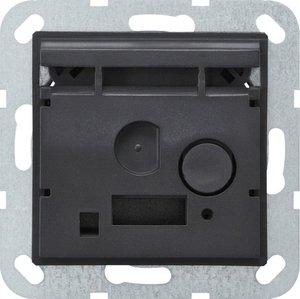 Фото Gira System55 228100 Док-станция с модулем Bluetooth и питанием для мобильных устройств (под рамку, механизм)