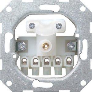 Фото Gira System55 040000 Вывод кабеля с 5-полюсным клеммником (механизм, скрытая установка)