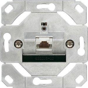 Фото Gira System55 245100 Розетка компьютерная наклонная (RJ45, cat.6, STP, механизм, скрытая установка)