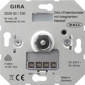 Фото Gira 202800 Потенциометр DALI с интегрированным блоком питания (механизм, скрытая установка)