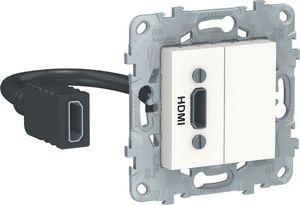 Фото Schneider Electric Unica New NU543018 Розетка видео (HDMI, под рамку, скрытая установка, белая)