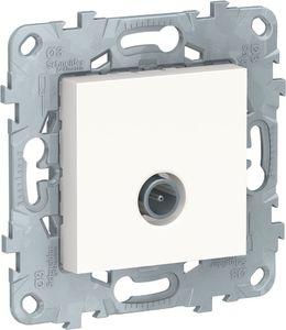 Фото Schneider Electric Unica New NU546218 Розетка телевизионная (TV, звезда, под рамку, скрытая установка, белая)