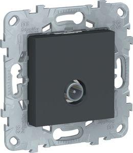 Фото Schneider Electric Unica New NU546254 Розетка телевизионная (TV, звезда, под рамку, скрытая установка, антрацит)