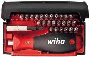 Фото Wiha Standard 09393 Набор бит Tri-Wing/SP/TS/TR/TX 25 мм (Cr-V, пласт. бокс, 27 шт)