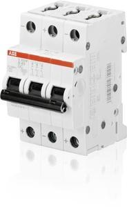 Фото ABB S200 2CDS273061R0065 Автоматический выключатель трехполюсный 6А (25 кА, B)