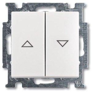 Фото ABB Basic55 2CKA001012A2147 Выключатель двухклавишный жалюзийный (10 А, под рамку, скрытая установка, слоновая кость)