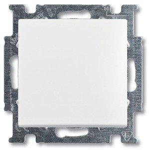 Фото ABB Basic55 2CKA001413A1080 Выключатель одноклавишный (Н.О. контакт, 10 А, под рамку, скрытая установка, альпийский белый)