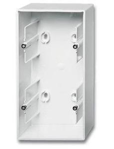 Фото ABB Basic55 2CKA001799A0975 Коробка двойная для открытого монтажа (альпийский белый)