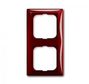 Фото ABB Basic55 2CKA001725A1517 Рамка 2-постовая (foyer-красный)