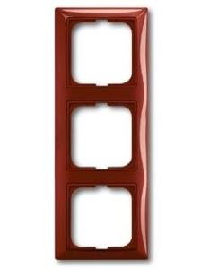 Фото ABB Basic55 2CKA001725A1518 Рамка 3-постовая (foyer-красный)
