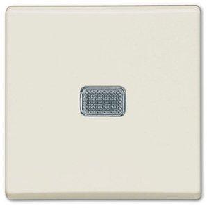 Фото ABB Basic55 2CKA001012A2185 Выключатель одноклавишный (10 А, подсветка, под рамку, скрытая установка, chalet-белый)