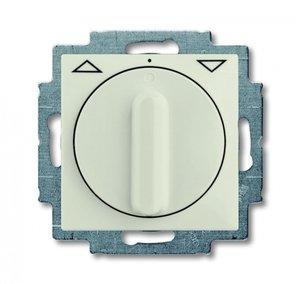 Фото ABB Basic55 2CKA001101A0930 Выключатель жалюзи поворотный (10 А, с фиксацией, под рамку, скрытая установка, chalet-белый)