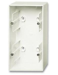 Фото ABB Basic55 2CKA001799A0969 Коробка двойная для открытого монтажа (chalet-белый)