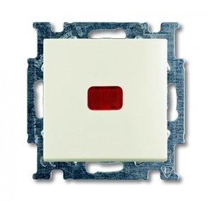 Фото ABB Basic55 2CKA001012A2190 Переключатель одноклавишный с N-клеммой (10 А, индикация, под рамку, скрытая установка, chalet-белый)