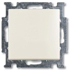 Фото ABB Basic55 2CKA001012A2191 Переключатель двухклавишный (10 А, индикация, под рамку, скрытая установка, chalet-белый)