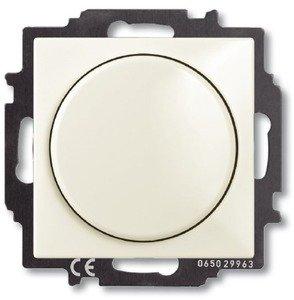 Фото ABB Basic55 2CKA006515A0847 Светорегулятор поворотно-нажимной (400 Вт, подсветка, под рамку, скрытая установка, chalet-белый)