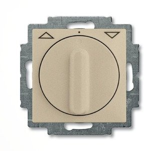Фото ABB Basic55 2CKA001101A0927 Выключатель жалюзи поворотный (10 А, без фиксации, под рамку, скрытая установка, шампань)