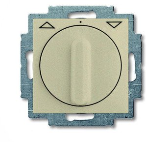 Фото ABB Basic55 2CKA001101A0926 Выключатель жалюзи поворотный (10 А, с фиксацией, под рамку, скрытая установка, шампань)